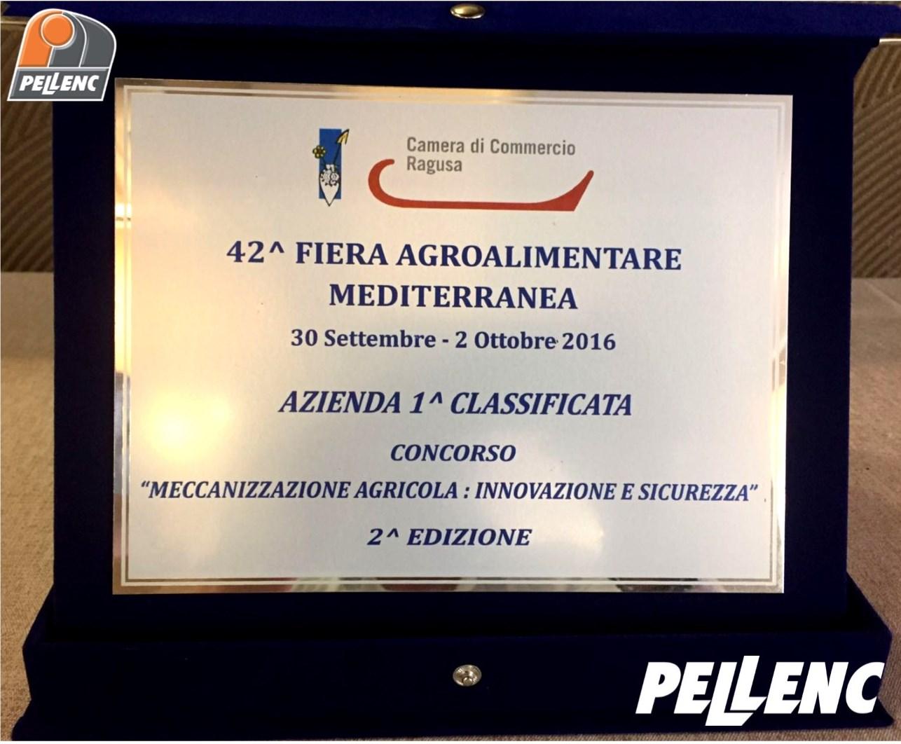 Pellenc premiata alla Fiera Agroalimentare di Ragusa!